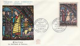 FDC 1963 VITRAIL DE CHARTRES - 1960-1969
