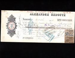 NARBONNE - Lettre De Change 1903 - Vins & Alcools Du Midi - ALEXANDRE REDOUTE - Bills Of Exchange