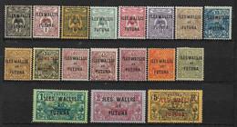 W&F1 -Wallis & Futuna N°1 à N°17 Neuf Ou Oblitéré 18 Valeur CV + De 51,00 Euros - Unclassified
