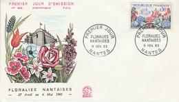 FDC 1963 FLORALIES NANTAISES - 1960-1969