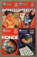 LOT De 4 TELECARTES PREPAYEES INTERCALL - Etat Courant - Collections