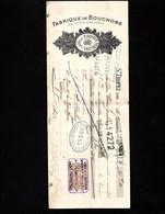 ST TROPEZ (Var) - Rare Lettre De Change 1924 - Fabrique De Bouchons En Tous Genres - BARBIER Père & Fils - Bills Of Exchange