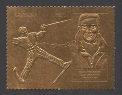 Guyana, 1993, Grospiron, Freestyle Skiing, Olympic Winter Games Lillehammer, Genova, Copper, MNH PROOF, Michel 3984 - Guyana (1966-...)