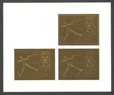 Guyana, 1993, Grospiron, Freestyle Skiing, Olympic Winter Games Lillehammer, Genova, Gold, MNH PROOF, Michel 3982 - Guyana (1966-...)
