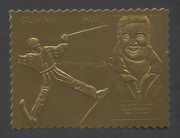 Guyana, 1993, Grospiron, Freestyle Skiing, Olympic Winter Games Lillehammer, Genova, Gold, MNH Perforated, Michel 3982BA - Guyana (1966-...)