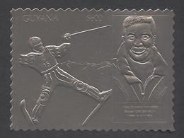 Guyana, 1993, Grospiron, Freestyle Skiing, Olympic Winter Games Lillehammer, Genova, Silver, MNH Perf, Michel 3983BA - Guyana (1966-...)