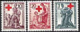 Liechtenstein 1945: Rotes Kreuz Zu W15-17 Mi 244-246 Yv 219-221 ** (Zumstein CHF 20.00) - Ungebraucht