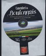 Etiquette Fromage Camembert Du Boulonnais Côte D'Opale Fromagerie Artisanale Les Freres Bernard Wierre Effroy 62 - Cheese