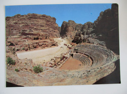 KINGDOM JORDAN AMPHITHEATER DESERT PETRA RED SEA MOUNTAIN POSTCARD CARTOLINA KARTE CPM PICTURE ANSICHTSKARTE CARD PHOTO - Jordan