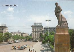 95285- CHISINAU VICTORY SQUARE, LENIN MONUMENT, BUSS, CAR - Moldavië