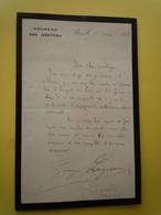 2 X  Autographes Georges LAGUERRE (1858-1912) DEPUTE BOULANGISTE Avocat De LOUISE MICHEL - Autographs