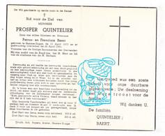 DP Prosper Quintelier / Baert ° Zogge Hamme 1873 † 1952 - Santini