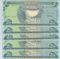 IRAQ 500 DINAR 2018 P- 98 LOT X5 UNC NOTES - Iraq