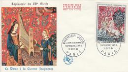 FDC 1964 LA DAME A LA LICORNE - 1960-1969