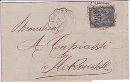 CORSE Rare Convoyeur PONTE-LECCIA à PALASCA Lettre D'Ajaccio > Ile-Rousse 1889 + FB LUMIO / 15c SAGE Cf. Description ! - 1877-1920: Période Semi Moderne