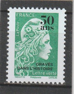 France 2019 : Marianne L'Engagée Surchargé.50 Ans Gravé Dans L'Histoire - 2018-... Marianne L'Engagée