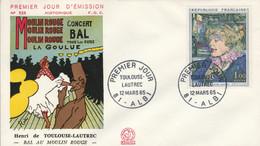 FDC 1965 PEINTURE DE TOULOUSE LAUTREC - 1960-1969
