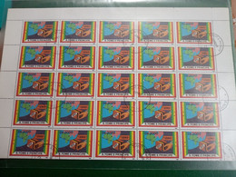Feuillet Complet De 50 Timbres Oblitéré  N *yv 1079 - Sao Tome And Principe