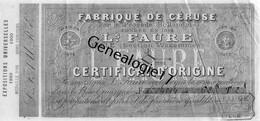 59 4506 LILLE NORD 1911 Ets L. FAURE Fabrique De Ceruse Section Wazemmes - Bills Of Exchange