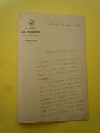 Lettre Autographe Gabriel TERRAIL Dit MERMEIX (1859-1930) Député Boulangiste De La Seine - Autographs