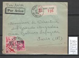 Reunion - Lettre Recommandée  SAINT PIERRE -1950 - Storia Postale