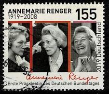 Bund 2019,Michel# 3499 O 100. Geburtstag Von Annemarie Renger - Gebruikt