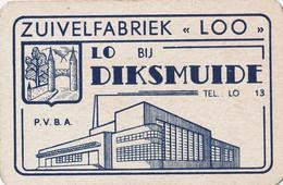 Zuivelfabriek LOO LO Bij DIKSMUIDE 1 Kaart 1 Card - Carte Da Gioco