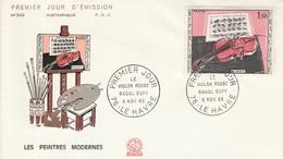 FDC 1965 LE VIOLON ROUGE DE DUFY - 1960-1969