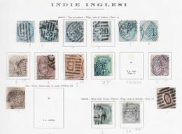 95563) INDIA INGLESE- LOTTO DI FRANCOBOLLI- 1865-67 VITTORIA - USATI- - Unclassified