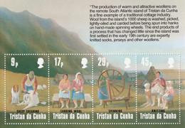 TRISTAN DA CUNHA - Production De La Laine, Moutons - Y&T BF 16 + Mi 373-376 - MNH - Tristan Da Cunha