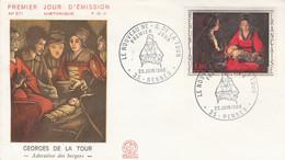 FDC 1966 PEINTURE DE GEORGES DE LA TOUR - 1960-1969