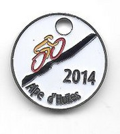 Jeton De Caddie  Fond  Blanc  Sport  Cyclisme  2014  Alpe  D' Huzes - Munten Van Winkelkarretjes