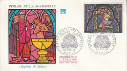 FDC 1966 VITRAIL SAINTE CHAPELLE - 1960-1969