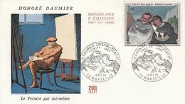 FDC 1966 PEINTURE DE DAUMIER - 1960-1969
