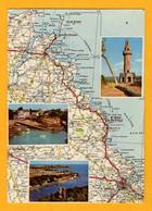 Bretagne Les Cotes D'Armor  De St Brieuc à Paimpol  3 Vues     Edt  Artaud     N°  17 Bis M - Maps