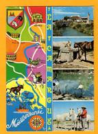La Camargue  4 Vues  + Dessin     Edt  SL      N° - Maps
