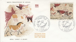FDC 1968 GROTTES DE LASCAUX - 1960-1969
