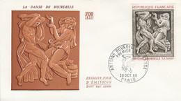 FDC 1968 SCULPTURE DE BOURDELLE - 1960-1969