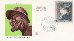 FDC 1968 PEINTURE DE RENOIR - 1960-1969