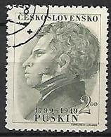TCHECOSLOVAQUIE     -    1949 .    Y&T N° 508 Oblitéré.  Pouchkine - Used Stamps