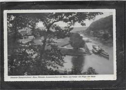 AK 0691  Oberweser Dampfschiffahrt - Hannover Münden / Zusammenfluss Der Werra Und Fulda Um 1950 - Hannoversch Muenden