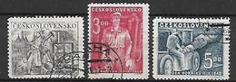 TCHECOSLOVAQUIE     -    1949 .   Y&T N° 511 à 513 Oblitérés.   Mineurs - Used Stamps