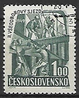 TCHECOSLOVAQUIE     -    1949 .  Y&T N° 515  Oblitéré .  Syndicats.  Charpentiers - Used Stamps