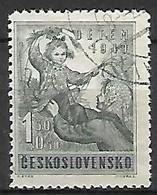 TCHECOSLOVAQUIE     -    1949 .  Y&T N° 517  Oblitéré . Pour L'enfance - Used Stamps