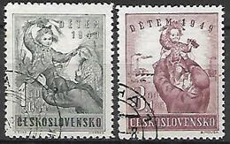 TCHECOSLOVAQUIE     -    1949 .  Y&T N° 517 / 518  Oblitérés . Pour L'enfance - Used Stamps