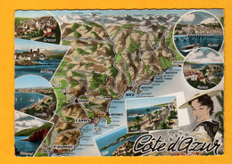 Côte D'Azur        Edt  Cap     N°1700 - Maps