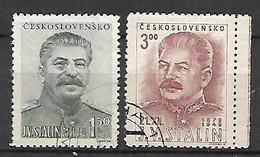 TCHECOSLOVAQUIE     -    1949 .  Y&T N° 519 / 520  Oblitérés .   Staline - Used Stamps