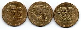 Lot De 3 Médailles / Monnaie De Paris / Bicentenaire De La Révolution - Unclassified
