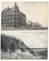 Cpa: BELGIQUE - COXYDE SUR MER - Hôtel Terlinck Et La Digue - Dans Les Dunes, Vue Sur Mer (2 Cartes) N° 1 Et 6 - Altri