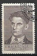 TCHECOSLOVAQUIE     -    1950 .  Y&T N°  526  Oblitéré .  Le Poète Russe Maïakovski - Used Stamps